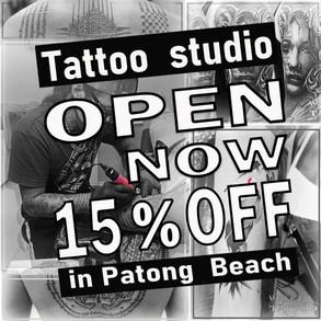 Tattoo studio in Patong, Phuket Sandbox Promotion【15% off】