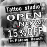 Tattoo studio in Patong, Phuket|Sandbox Promotion【15% off】