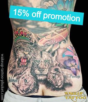 Tattoo Patong, Phuket  15% off Promotion   sandbox