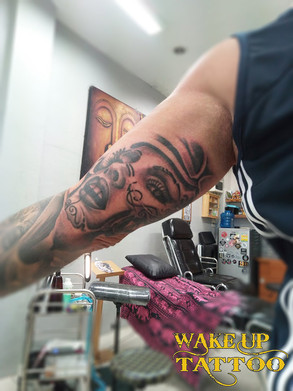 day of the dead tattoo by Wake up Tattoo Phuket at Patong Beach Thailand