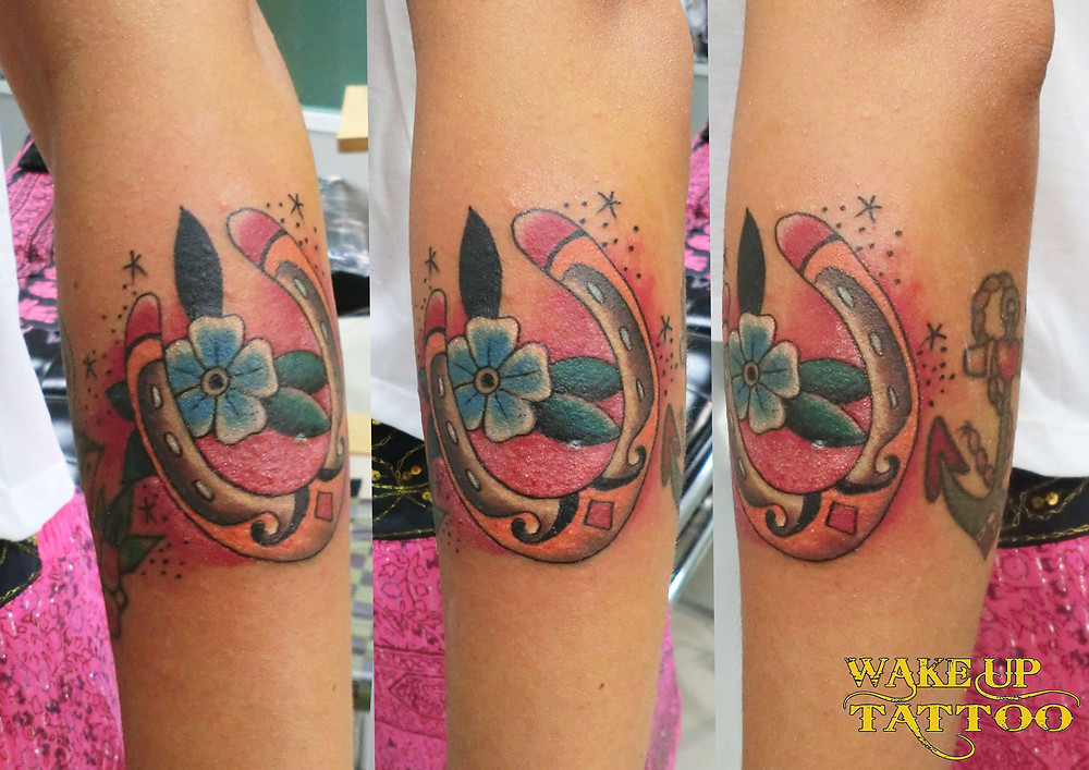 Hoof old school tattoo by Wake up Tattoo Phuket