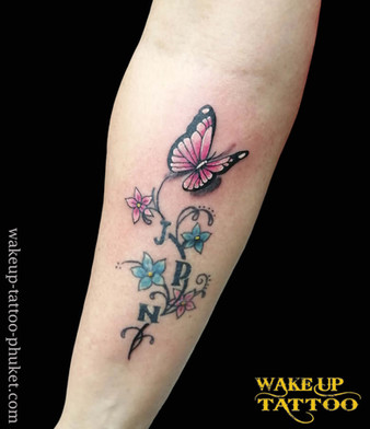 3D butterfly tattoo by Wake up Tattoo Phuket