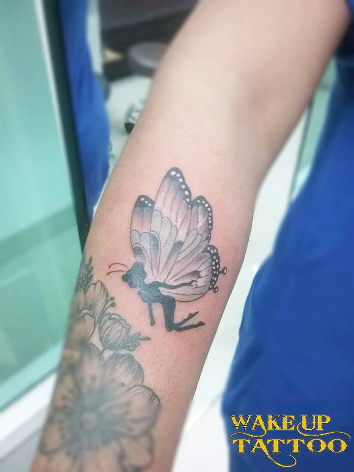 Butterfuly Tattoo by Wake up Tattoo Phuket at Patong Beach Phuket Thailand