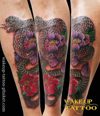 Japanese Snack Tattoo by Wake up Tattoo Phuket