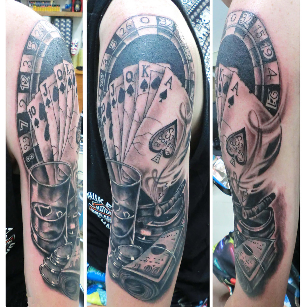 Old school tattoo by Patong Tattoo Studio