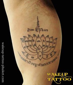 Sak Yant Traditional Thai Bamboo Tattoo by Wake up Tattoo Phuket
