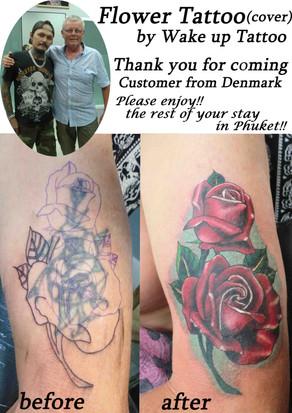 Flower Tattoo (cover) by Wake up Tattoo Phuket