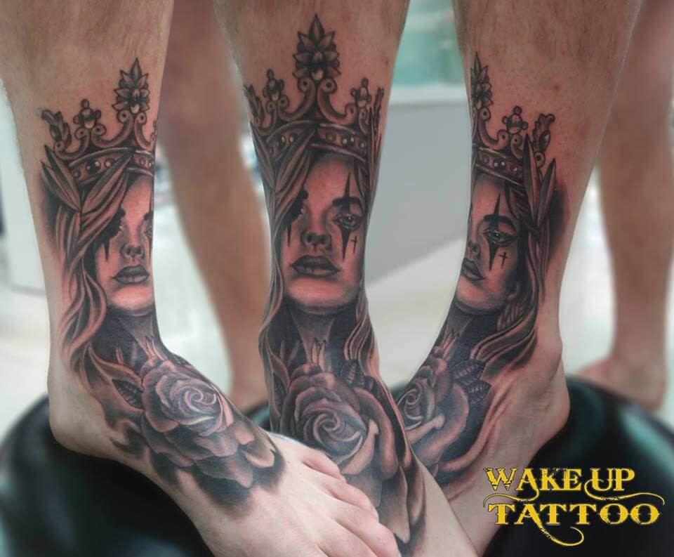 Day of the dead tattoo by Wake up Tattoo Phuket