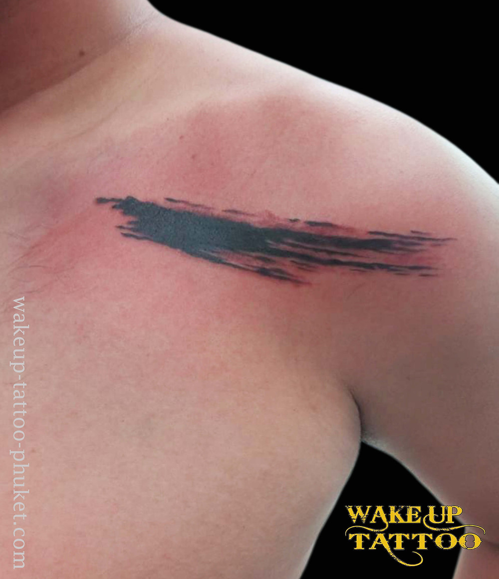 Penmanship simple Tattoo by Wake up Tattoo Phuket