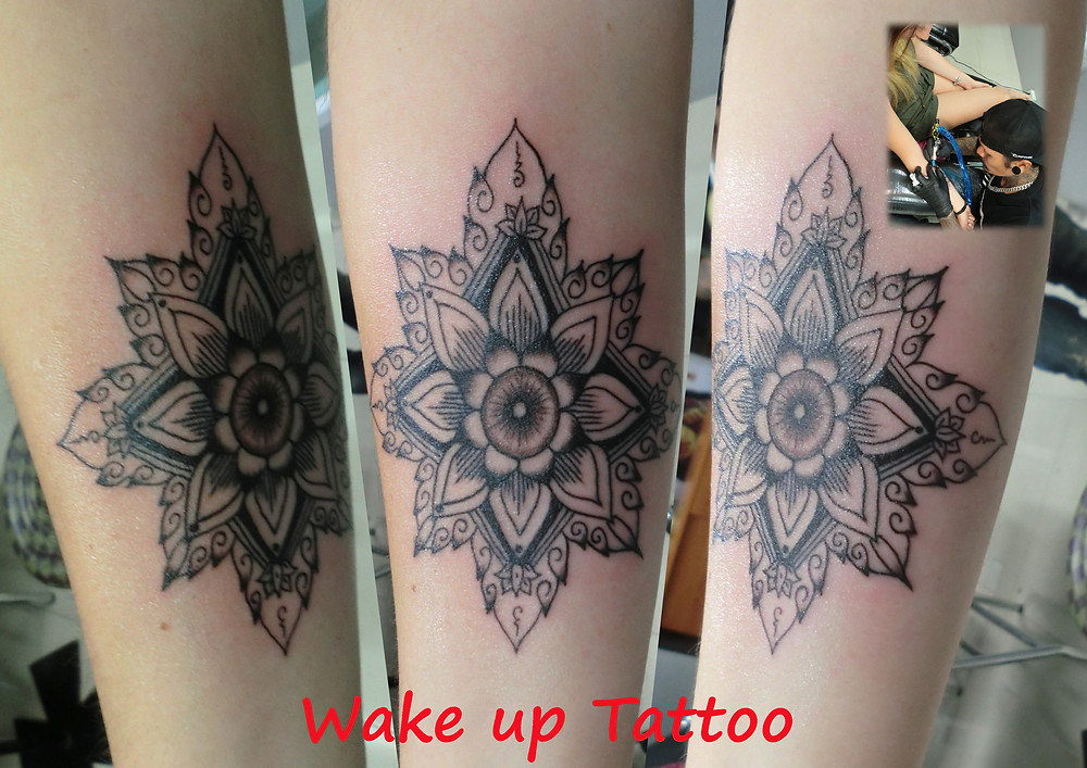 Mandala tattoo by Wake up Tattoo Phuket at Patong Beach