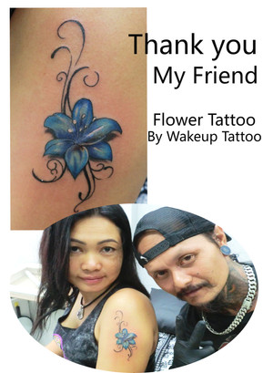 Flower Tattoo by Wake up Tattoo Phuket