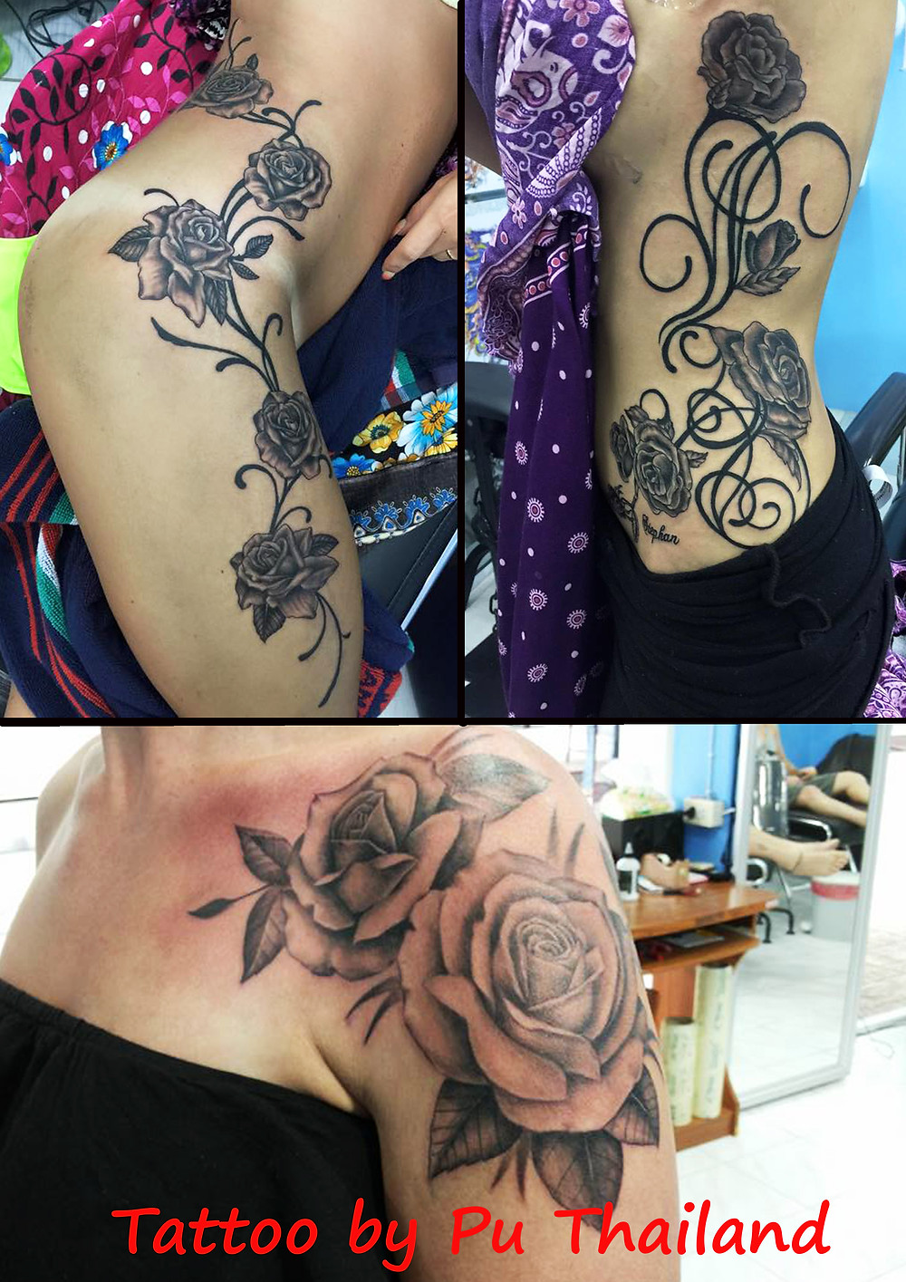 Rose Tattoo by Pu Thailand