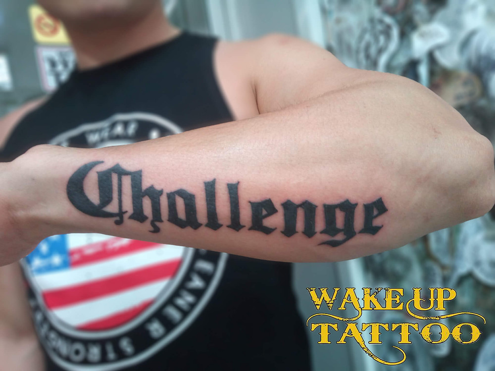 Writing Tattoo by Wake up Tattoo