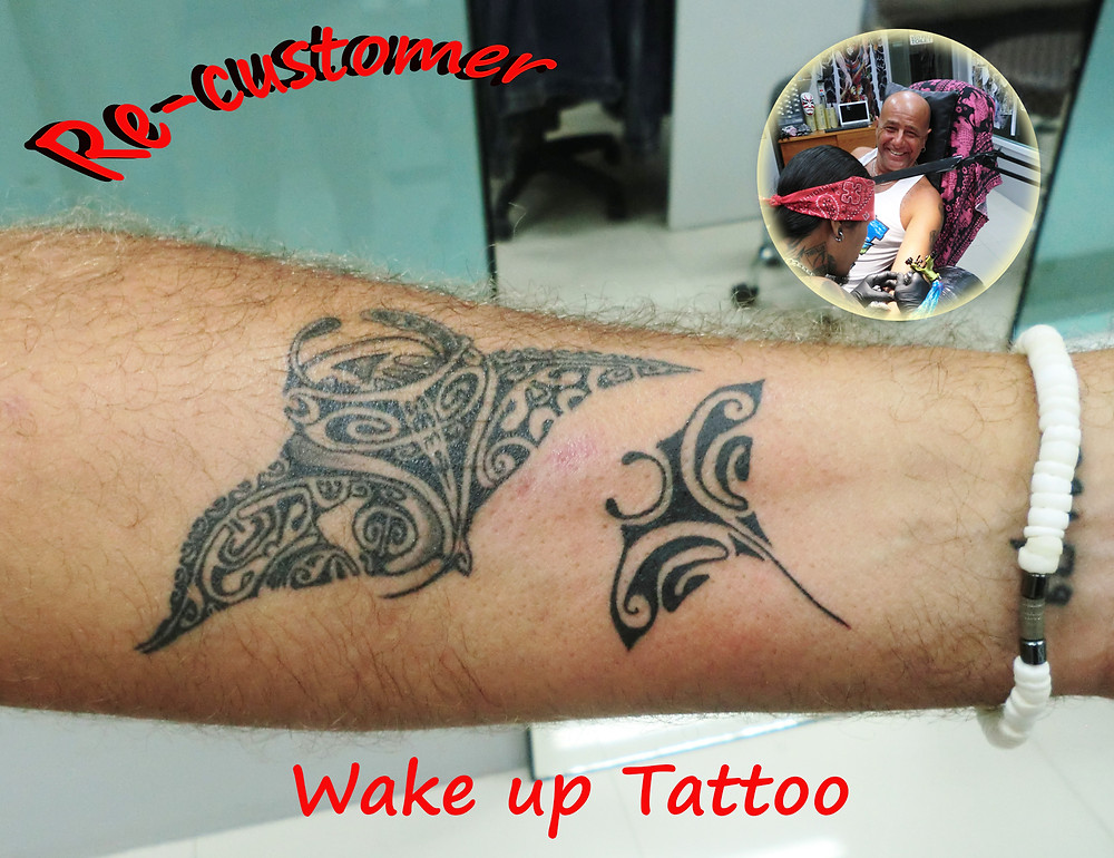 Manta Maori tattoo by Wake up Tattoo Phuket