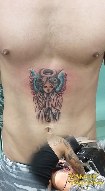 Angel tattoo by Wake up Tattoo Phuket