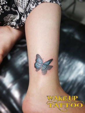 3D butterfly tattoo by Wake up tattoo Phuket at Patong Beach
