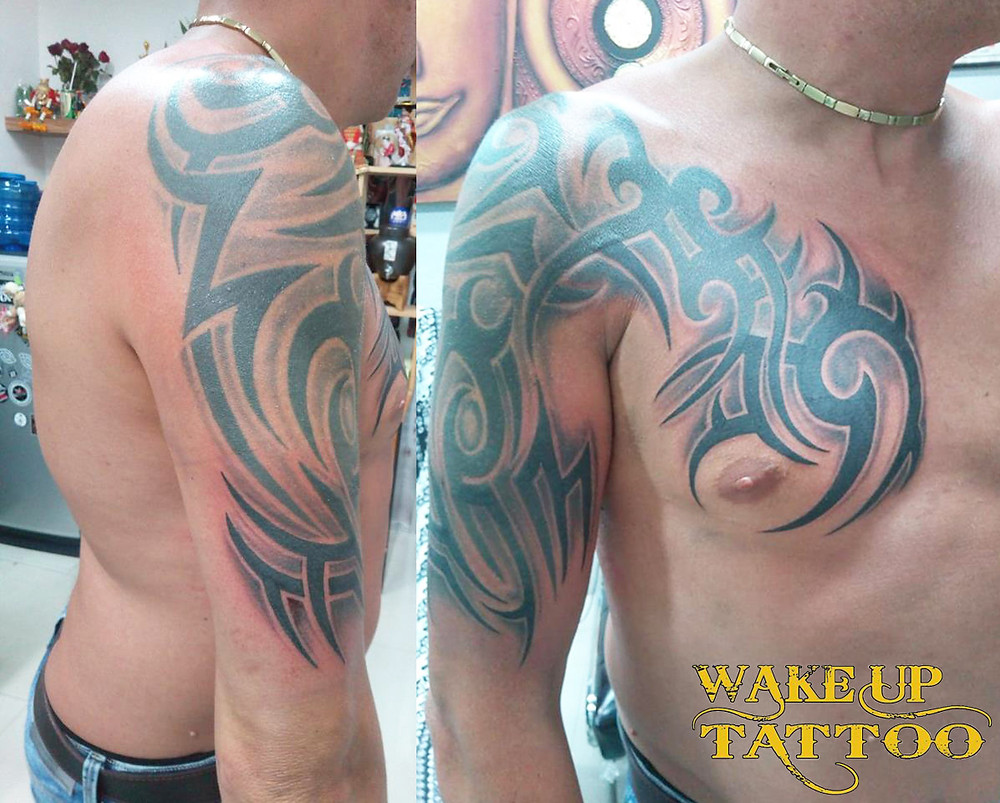Tribal add on Tattoo in Patong Tattoo Studio at Wake up Tattoo
