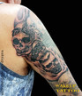 Skull Hear No Evil Speak No Evil See No Evil Tattoo by Wake up Tattoo Phuket