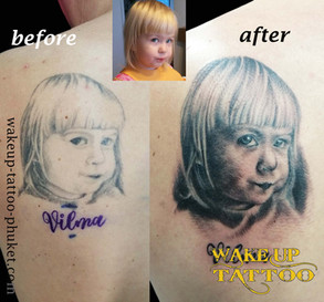 Re cover tattoo by Wake up Tattoo Phuket