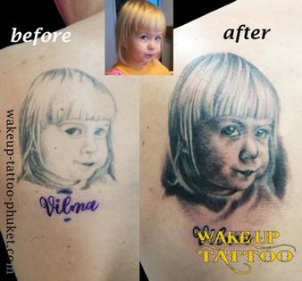 Re cover tattoo by Wake up Tattoo Phuket