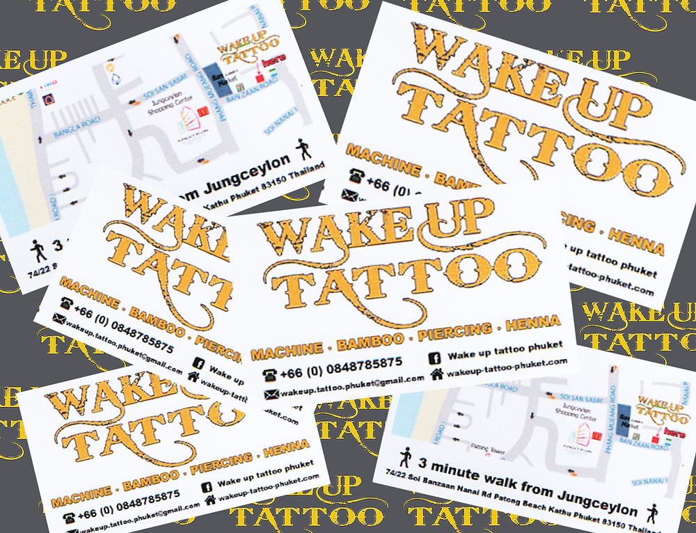 Wake up tattoo Phuket at Patong Beach Thailand