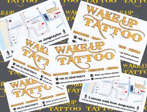 Wake up tattoo Phuket at Patong Beach Thailand