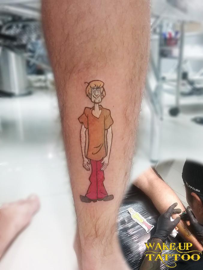 scooby-doo tattoo by Wake up Tattoo Phuket at Patong Beach