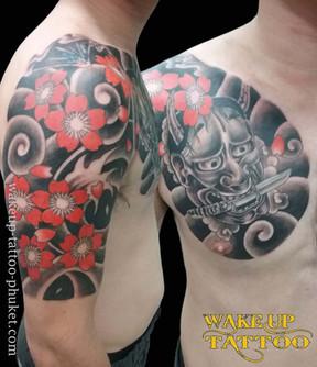 Japanese Tattoo Style design by Wake up Tattoo