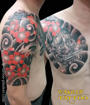 Japanese Tattoo Style design by Wake up Tattoo