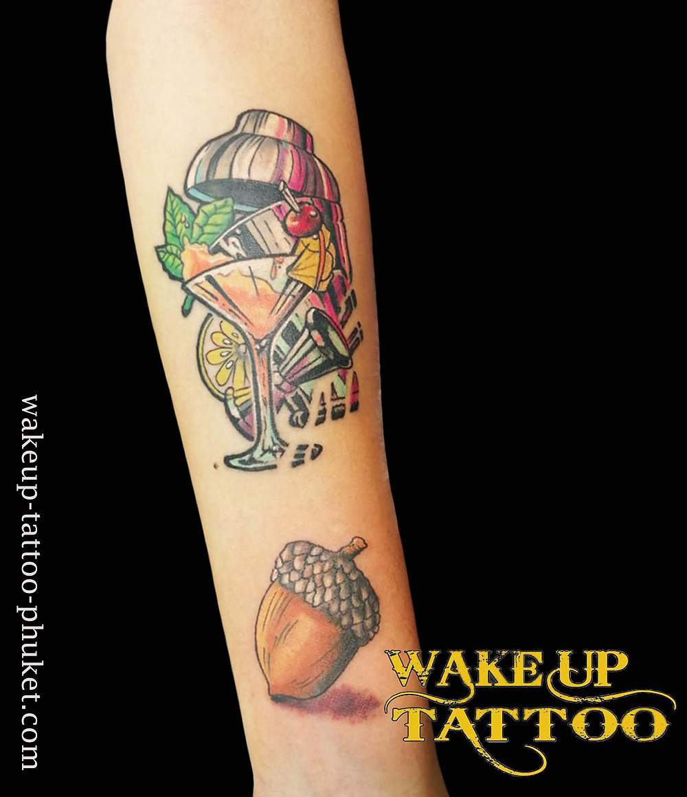 Cocktail Party Tattoo by Wake up Tattoo Phuket