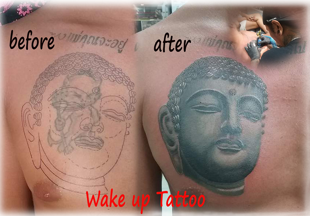 cove up buddha tattoo by Wake up Tattoo