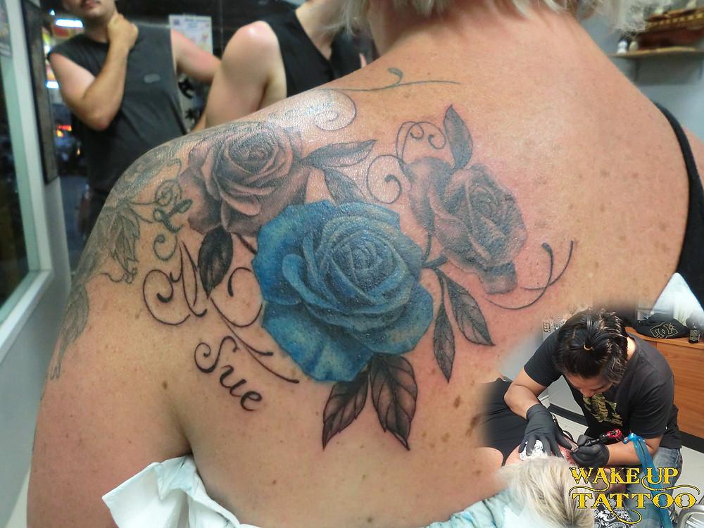 rose tattoo by Wake up Tattoo Phuket