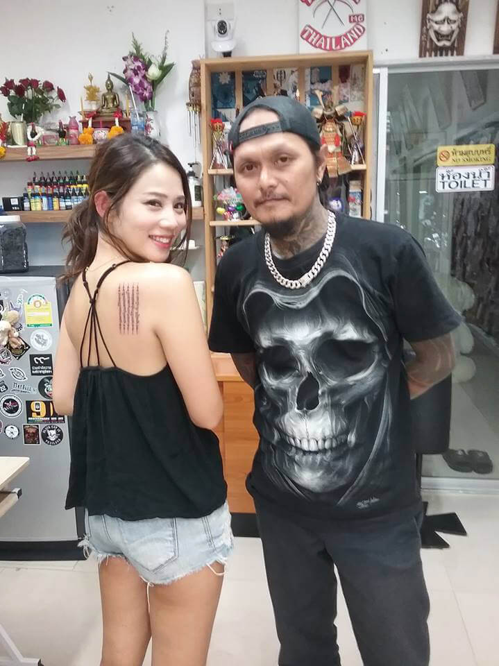 Beautiful customer by Wake up Tattoo Phuket
