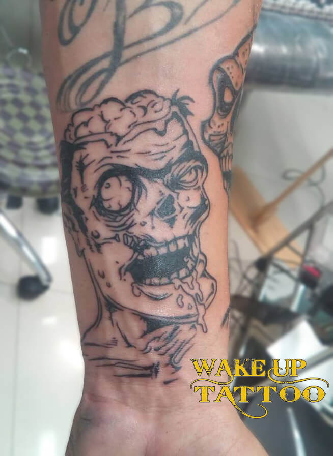 New Zombi tattoo by Wake up Tattoo Phuket