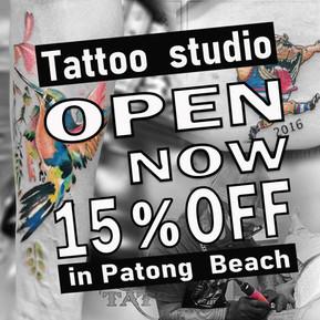 Phuket Tattoo 15% off Sandbox promotion in Patong now