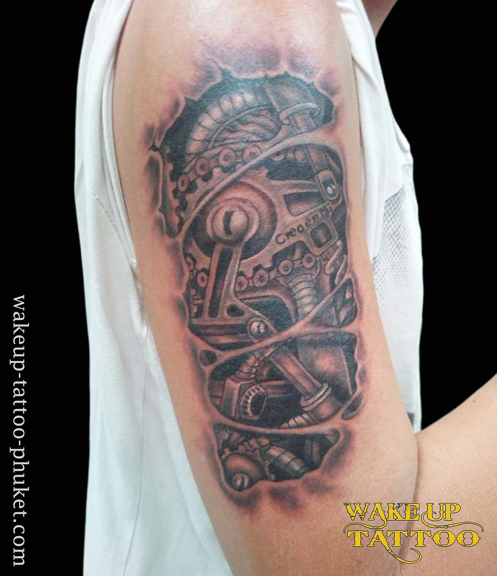 Bio mechanical Tattoo by Wake up Tattoo Phuket