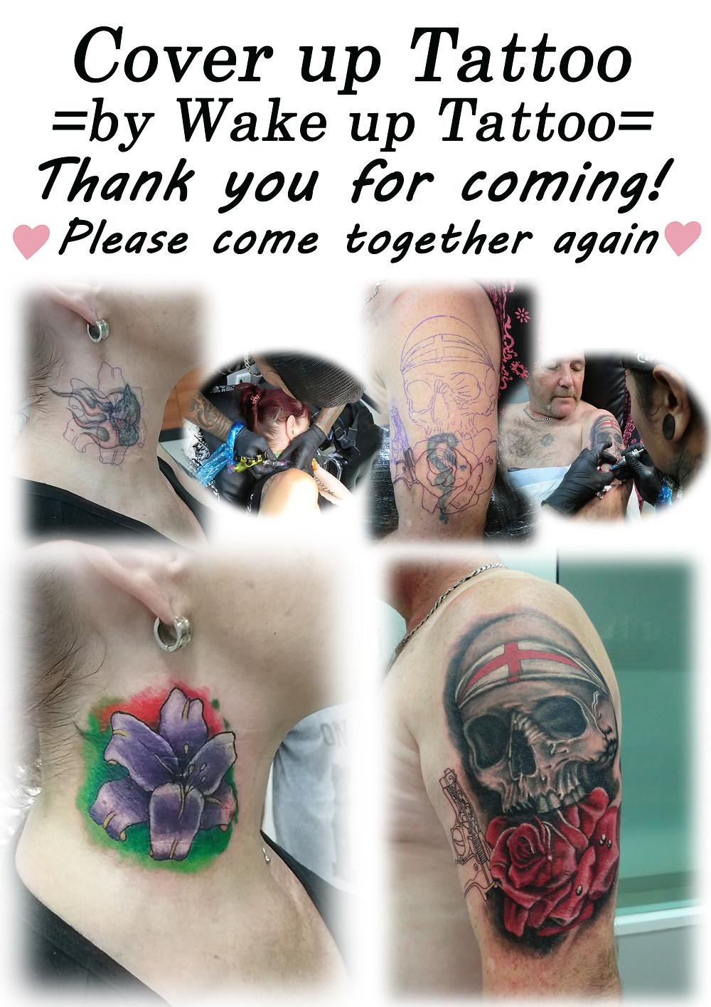 Cover up Tattoo by Wake up Tattoo Phuket