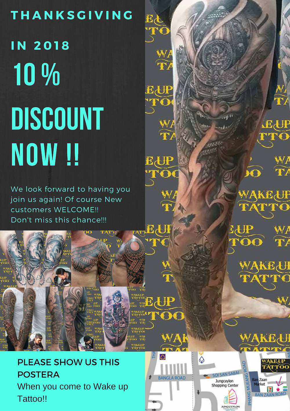 """Thanksgiving in 2018! 10% discount NOW until """"Dec 31th"""""""