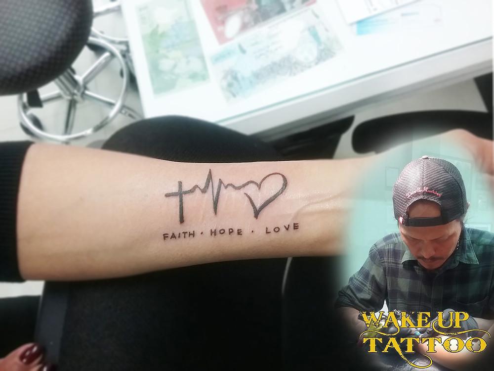 heart beat tattoo by Wake up Tattoo Phuket at Patong Beach