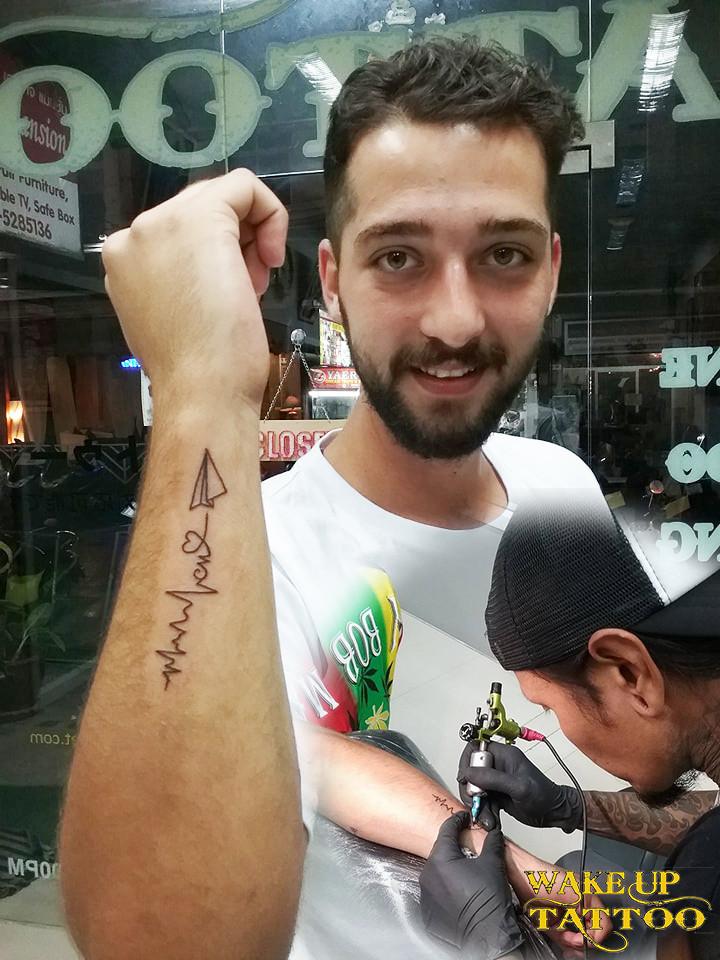 heartbeat tattoo by Wake up Tattoo Phuket at Patong Beach