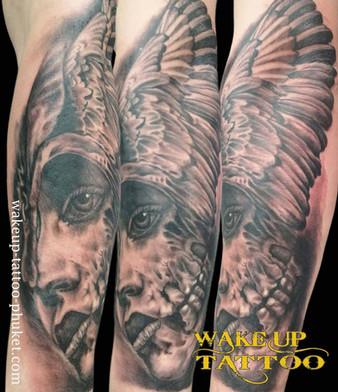 Realistic Tattoo design by Wake up Tattoo Phuket