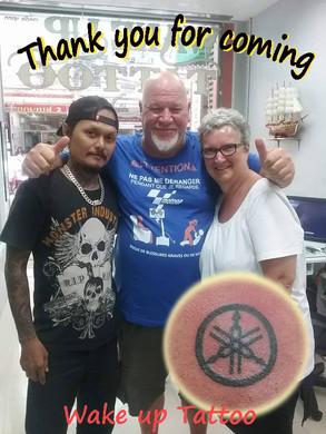 We need smile face of customer by Wake up Tattoo Phuket