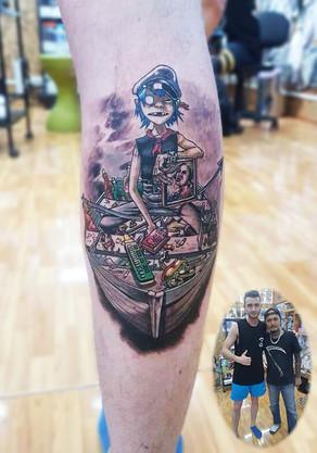 ONE PIECE Tattoo by Wake up Tattoo Phuket in Patong, Phuket, Thailand