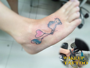 Water color elephant tattoo by Wake up tattoo Patong Beach