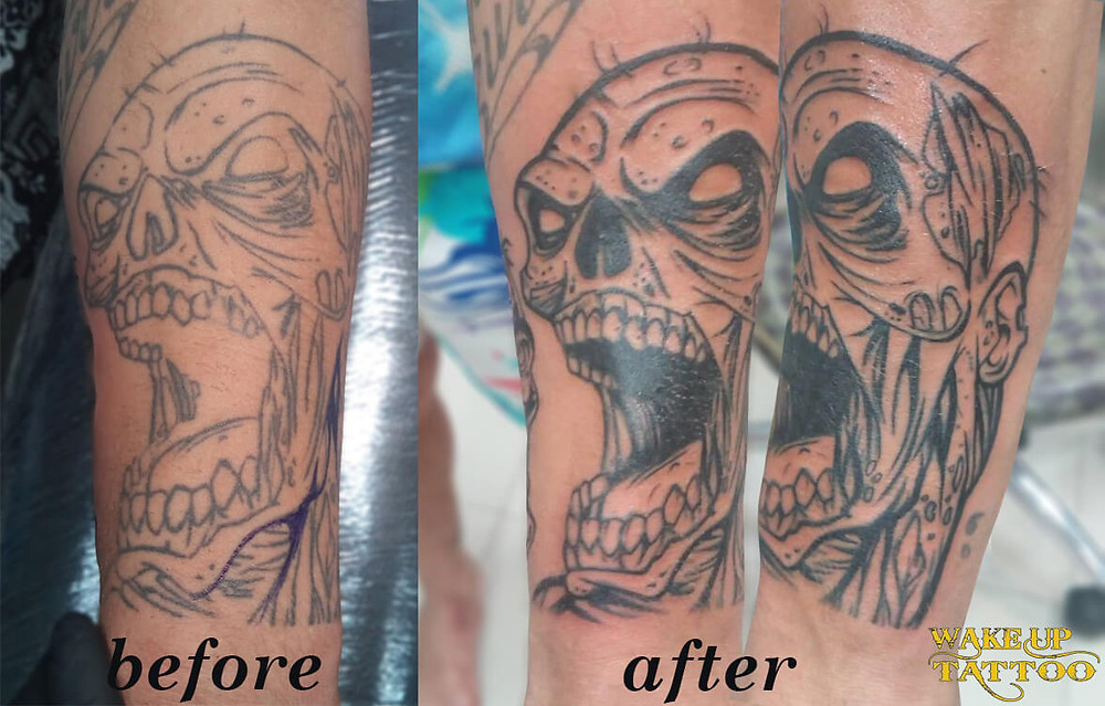 Cover up Zombies tattoo by Wake up Tattoo Phuket