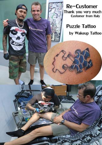 Puzzle Tattoo by Wake up Tattoo Phuket