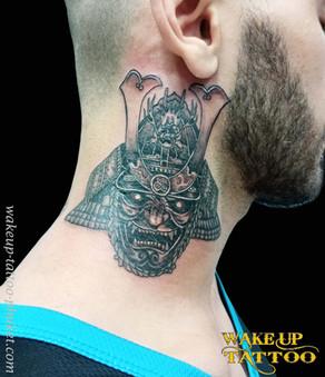 Samurai Hannya tattoo by Wake up Tattoo Phuket