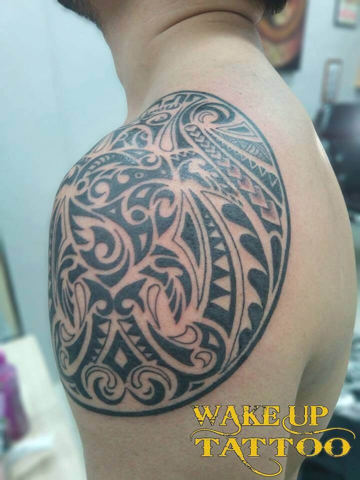 Maori Polynesian tattoo by Wake up Tattoo Phuket