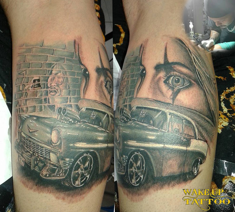 Black and Gray style by Wake up Tattoo Phuket