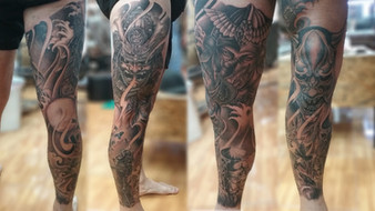 Full Sleeve led tattoo by Wake up Tattoo Phuket